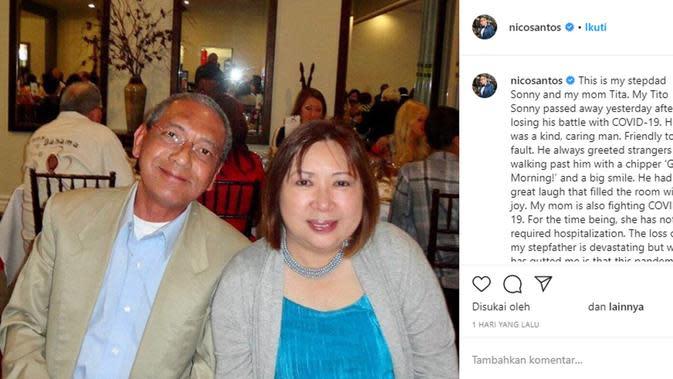 Orangtua Nico Santos. (https://www.instagram.com/nicosantos)