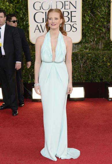 """NBC's """"70th Annual Golden Globe Awards"""" - Arrivals: Jessica Chastain"""