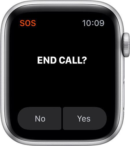 how to set up fall detection on apple watch watchos5 series4 emergency sos end call