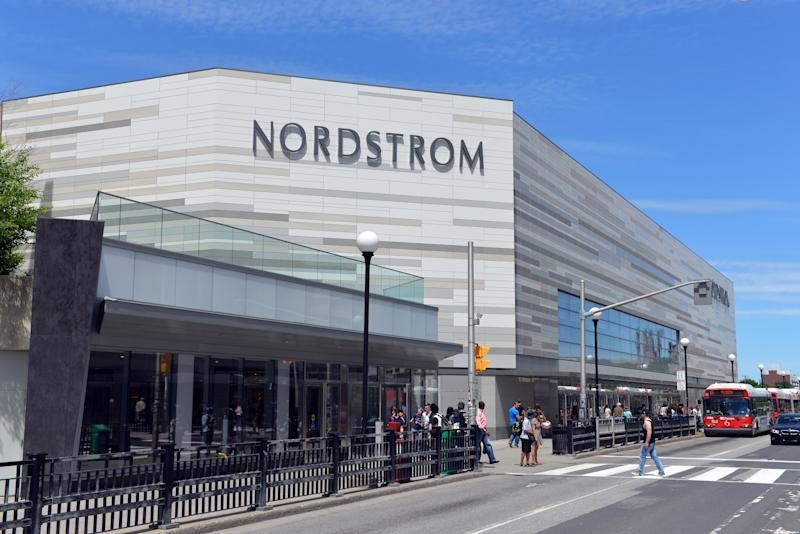 Ottawa, Canada - June 20, 2015: People convene around the new Nordstrom store that opened in Ottawa on March 3, 2015. The American upscale fashion retailer has begun to expand into Canada.