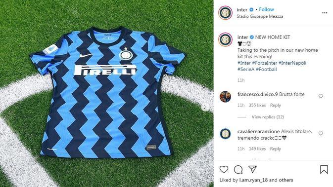 Seragam Inter Milan. (Instagram)