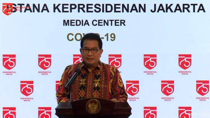 Juru Bicara Satuan Tugas Penanganan COVID-19, Wiku Adisasmito saat melaporkan perkembangan COVID-19 pada Jumat, 24 Juli 2020. (Foto: Tangkapan Layar YouTube Sekretariat Presiden)