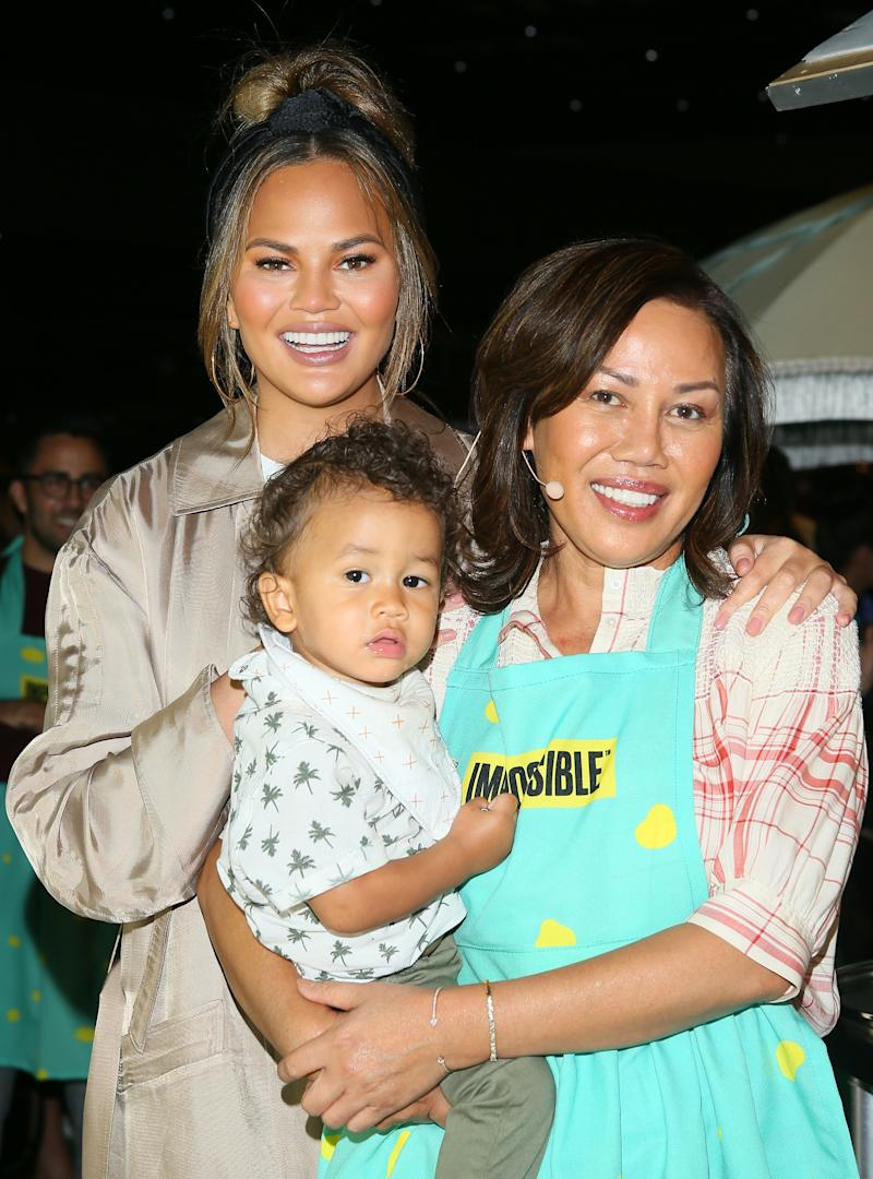Chrissy and John already live with her mother, Pepper. Photo: Getty Images