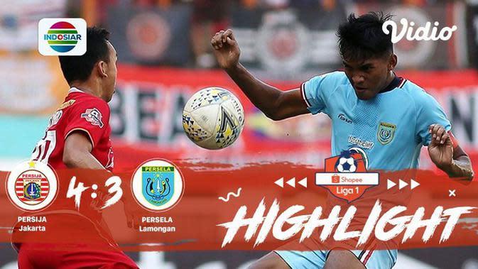 Full Highlight - Persija Jakarta 4 vs 3  Persela Lamongan | Shopee Liga 1 2019/2020
