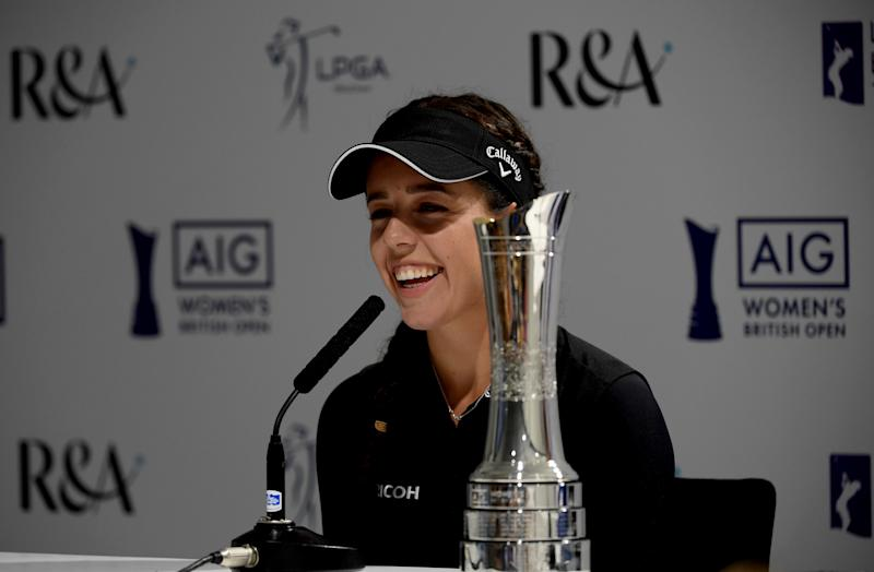 Georgia Hall no longer has the trophy from her win at last year's Women's British Open. Somebody stole it out of her car.