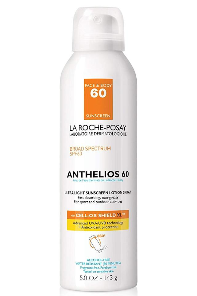 """<p><strong>La Roche-Posay</strong></p><p>laroche-posay.us</p><p><strong>$35.99</strong></p><p><a href=""""https://go.redirectingat.com?id=74968X1596630&url=https%3A%2F%2Fwww.laroche-posay.us%2Fsunscreen%2Fanthelios-lotion-spray-sunscreen-spf-60-883140500841.html&sref=https%3A%2F%2Fwww.cosmopolitan.com%2Fstyle-beauty%2Fbeauty%2Fg31696775%2Fbest-spray-sunscreens%2F"""" target=""""_blank"""">Shop Now</a></p><p>A lot of sunscreens come with scents. They're usually coconut-y or fruity, and sometimes, very overwhelming. <strong>If you're not about the scented sunscreen life, or if you have <a href=""""https://www.cosmopolitan.com/style-beauty/beauty/a31347/beauty-products-sensitive-skin/"""" target=""""_blank"""">sensitive skin</a>,</strong> you might want to opt for this fragrance-free spray sunscreen. It's also alcohol-free (so you can also spray it on your face), lightweight, and non-greasy. Bless.</p>"""