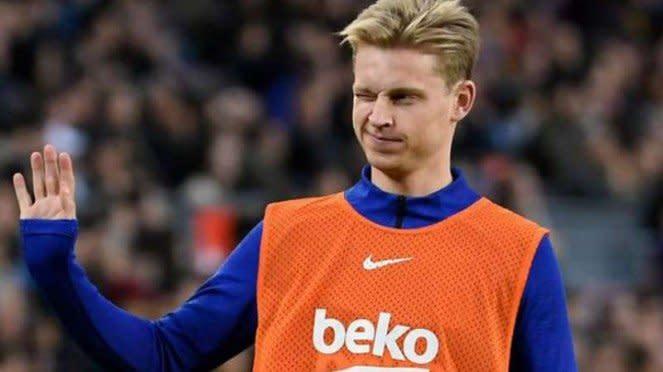 Gelandang Barcelona, Frenkie de Jong.