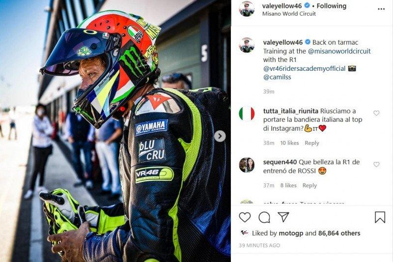 Valentino Rossi libas Sirkuit Misano menyusul pelonggaran lockdown