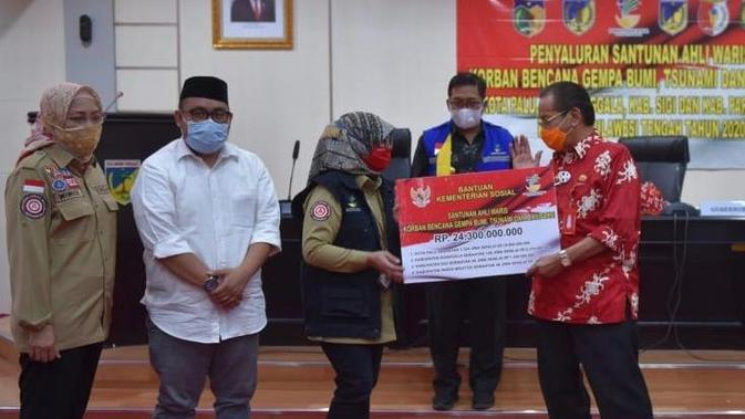 Kemensos Tuntaskan Santunan Ahli Waris untuk Korban Gempa-Tsunami Sulteng