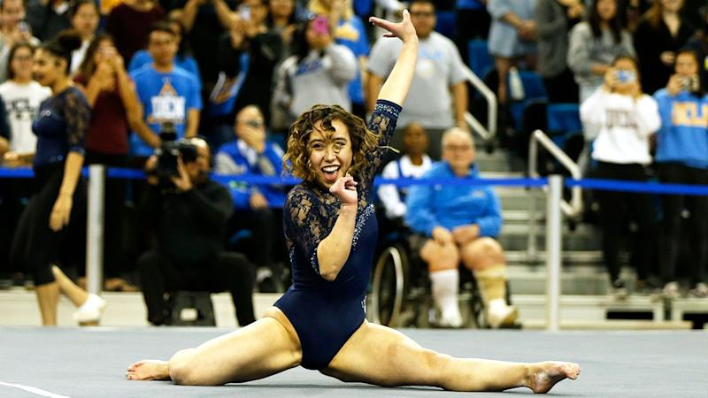 Katelyn Ohashi's gymnastics routines saw her become an internet sensation.