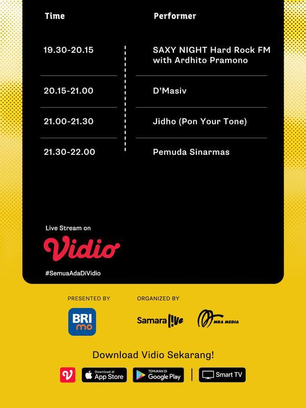 Live Stream Fest Vol. 4 Program Live Music Hari Pertama Channel 2. (Sumber: Vidio)