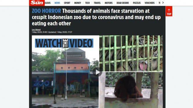 Kondisi Kebun Binatang Indonesia Saat Wabah Corona Jadi Sorotan Dunia