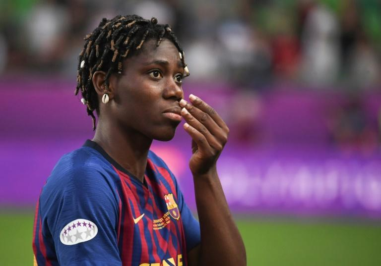 Africa's star Oshoala gives Barcelona tenacious spark, wins over parents