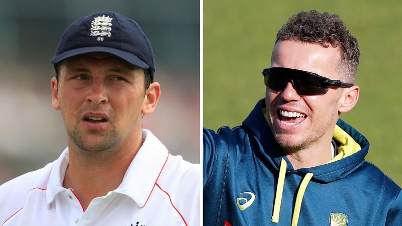 Peter Siddle (pictured right) has hit back at Steve Harmison (pictured left) over his Steve Smith jibe.