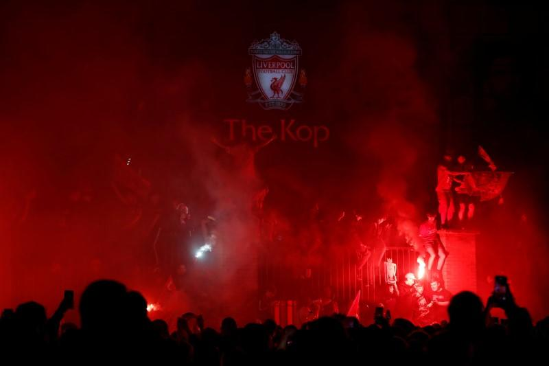 Liverpool 'disappointed' after fans celebrate league win outside Anfield