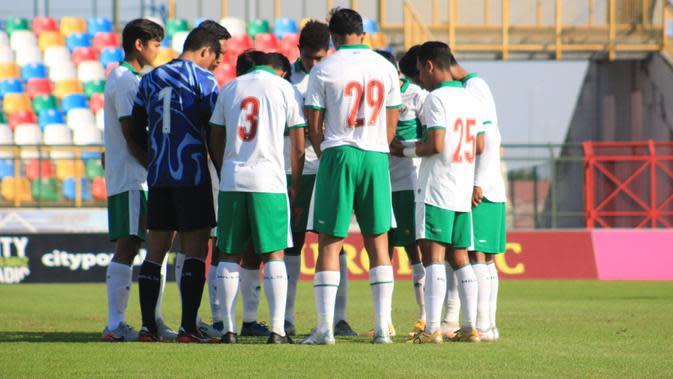 Timnas Indonesia U-19 ketika melawan Qatar U-19, Minggu (20/9/2020). (PSSI).
