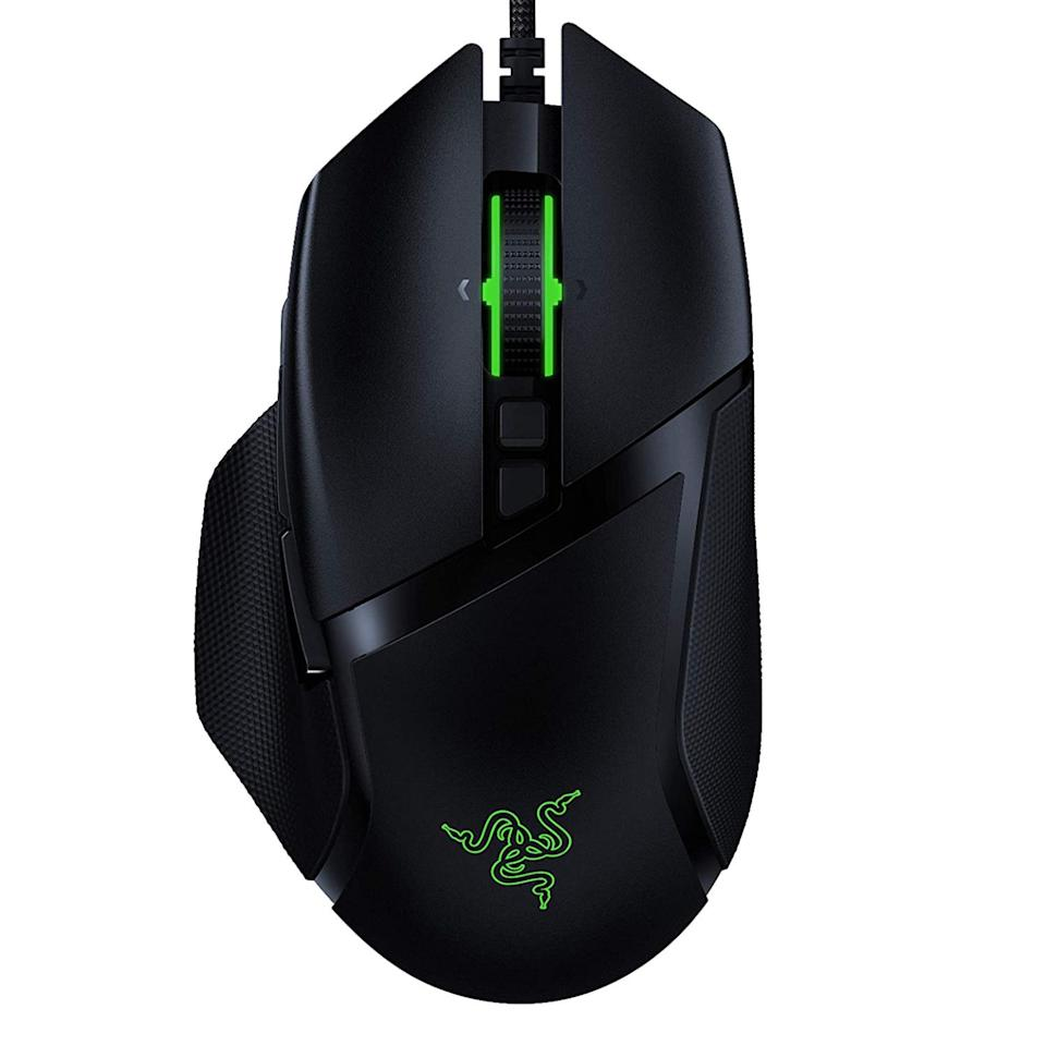 "<p><strong>Razer</strong></p><p>amazon.com</p><p><strong>$79.99</strong></p><p><a href=""https://www.amazon.com/dp/B082G5BDNC?tag=syn-yahoo-20&ascsubtag=%5Bartid%7C2089.g.33751584%5Bsrc%7Cyahoo-us"" target=""_blank"">Shop Now</a></p><p>The Razer Basilisk V2 is our top pick for most gamers. It has a cool and ergonomic design with 11 programmable buttons, an insanely accurate sensor with a maximum sensitivity of 20,000 DPI, as well as ultra-fast optical switches. A <a href=""https://www.tomshardware.com/reviews/razer-basilisk-v2"" target=""_blank"">Tom's Guide</a> editor rightfully called the gadget ""a home run.""</p><p>Another Basilisk V2 feature we like is its scroll wheel with customizable resistance. You can adjust the latter to your exact liking via a built-in dial. The mouse has adjustable RGB backlighting as well. </p><p>Razer also offers <a href=""https://www.amazon.com/dp/B07YPBX9Y7?tag=syn-yahoo-20&ascsubtag=%5Bartid%7C2089.g.33751584%5Bsrc%7Cyahoo-us"" target=""_blank"">a wireless variant of the mouse, called Basilisk Ultimate</a>. It has the same sensor and switches, more elaborate backlighting, up to 100 hours of battery life, and a nifty charging dock. After many hours of gaming with the mouse, I believe that it's worth the splurge.</p><p><strong>More: </strong><a href=""https://www.bestproducts.com/tech/gadgets/a21987789/top-rated-gaming-laptop-reviews/"" target=""_blank"">Gaming Laptops We Vouch For</a><strong></strong></p>"