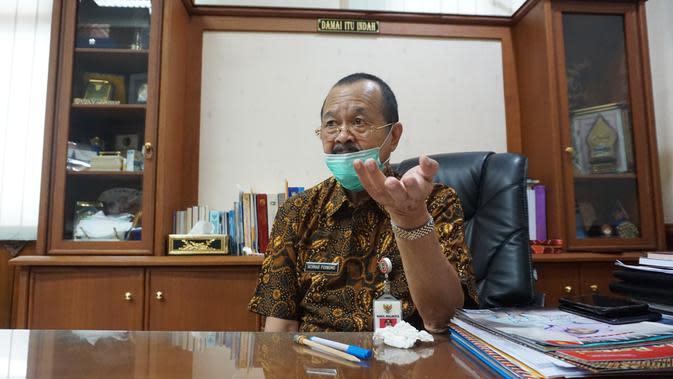 Achmad Purnomo yang juga Wakil Wali Kota Solo memutuskan mundur dari bakal calon Wali Kota Solo yang diusung DPC PDIP Solo.(Li[putan6.com/Fajar Abrori)