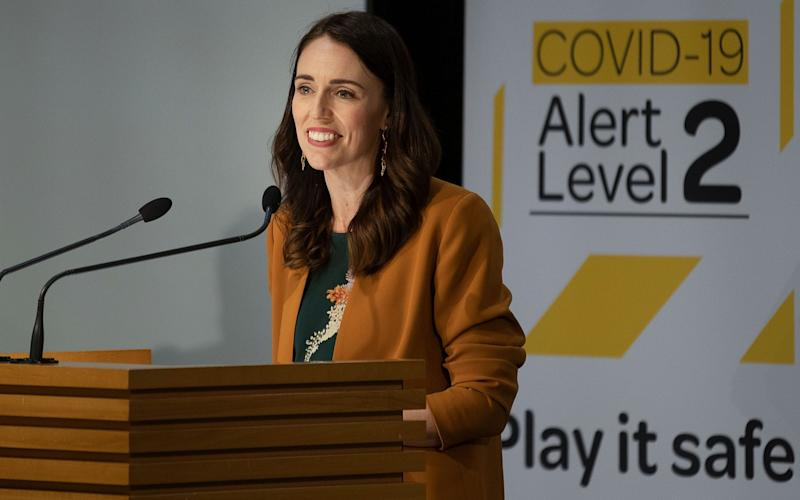 On June 8, New Zealand PM Jacinda Ardern declared the coronavirus epidemic 'over' in New Zealand with community transmission eliminated - Marty Melville/AFP