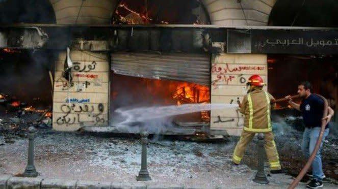 VIVA Militer: Bangunan rusak akibat penjarahan rakyat Libanon