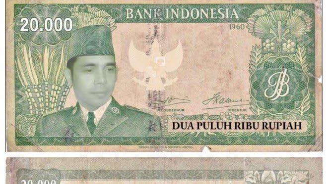 Pecahan uang versi ormas Tunggul Rahayu