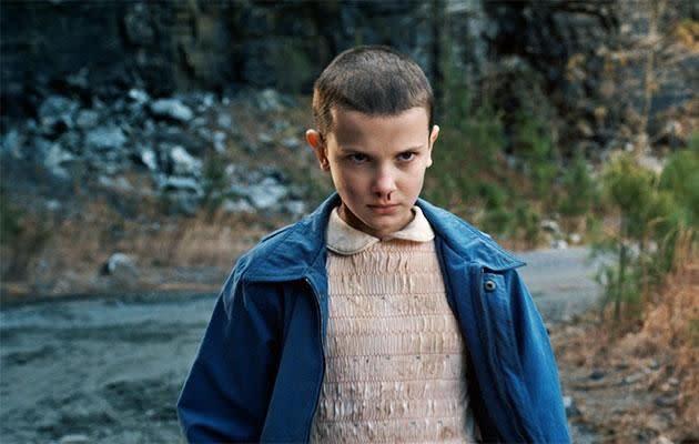 Millie plays Eleven in the Netflix drama series. Photo: Netflix