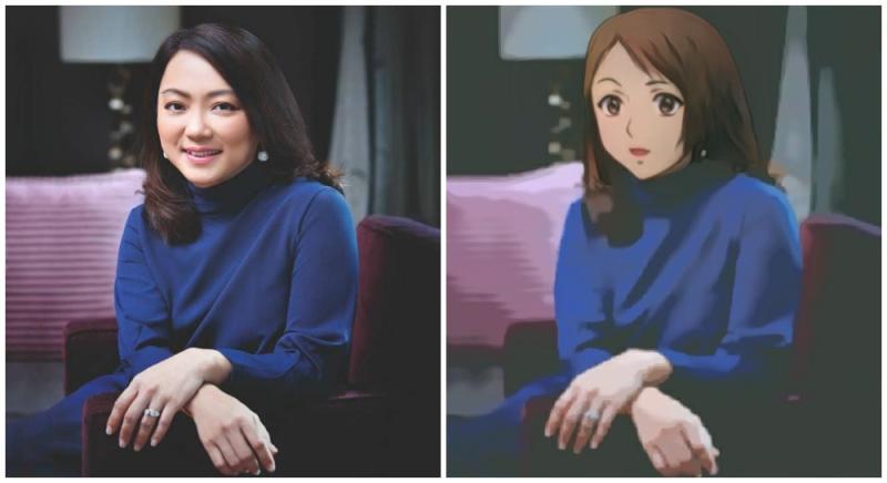 Hannah Yeoh and Anime Hannah. Original photo by Hannah Yeoh/Facebook