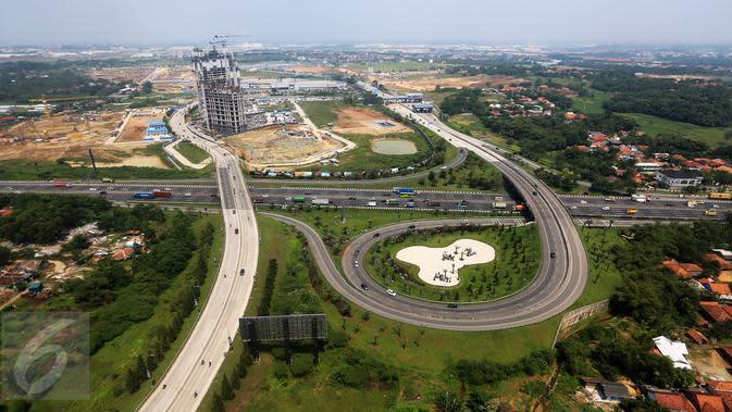 Suasana pembangunan kota baru berskala internasional di Kota Meikarta, Lippo Cikarang, Sabtu (13/05). Proyek yang akan menghabiskan dana sekitar Rp278 triliun berada di koridor Jakarta - Bandung. (Liputan6.com/Fery Pradolo)