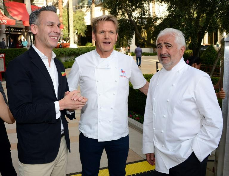 Adam Rapoport,  former editor-in-chief of Bon Appetit magazine, seen here with celebrity chefs Gordon Ramsay and Guy Savoy in Las Las Vegas, has resigned over a photo that showed him wearing brownface