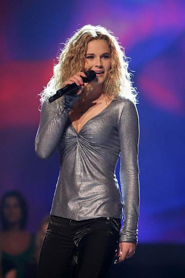 Kristy Lee Cook performs as one of the top 20 contestants on the 7th season of American Idol.
