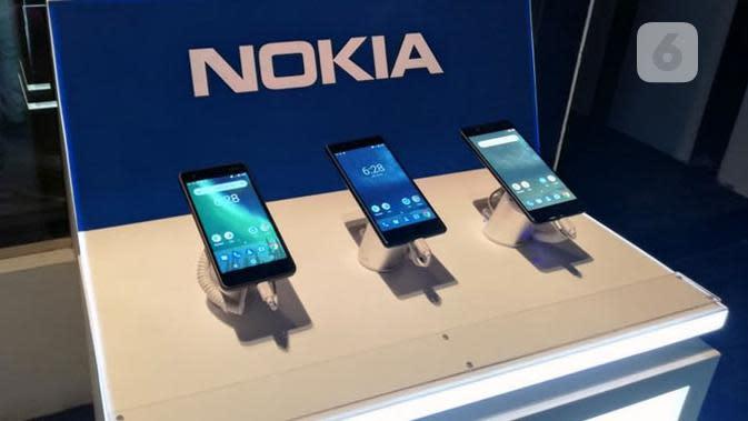 Deretan smartphone Nokia. Liputan6.com/ Andina Librianty