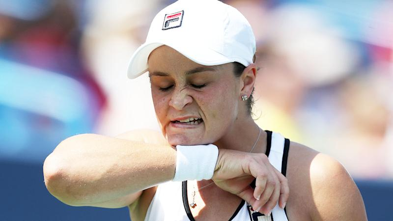 Ash Barty, pictured here during her loss against Svetlana Kuznetsova. (Photo by Rob Carr/Getty Images)