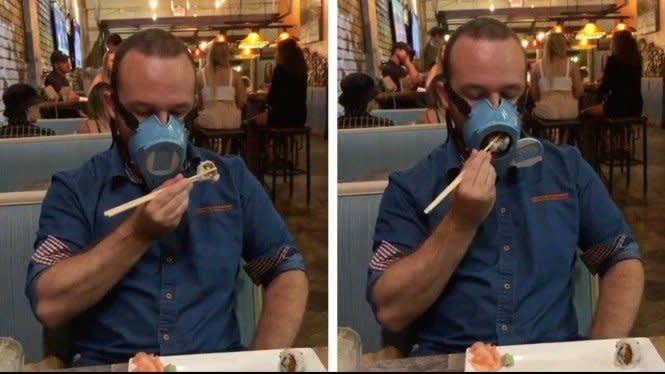 Keren, Masker Ini Tidak Perlu Dibuka Saat Makan dan Minum