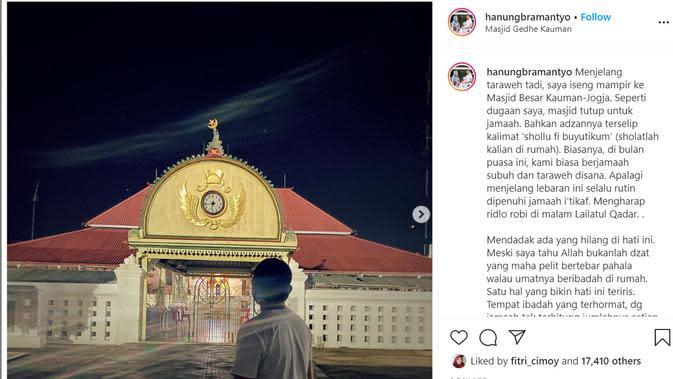 Hanung Bramantyo. Foto. instagram @hanungbramantyo