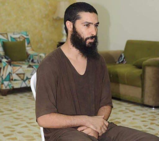 An undated photo released by the Iraqi judiciary on January 23, 2018, shows Belgian jihadist Tarik Jadaoun