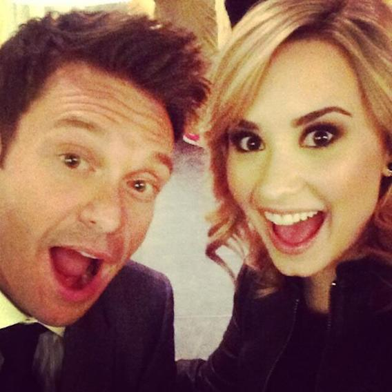 Ryan Seacrest and Demi Lovato