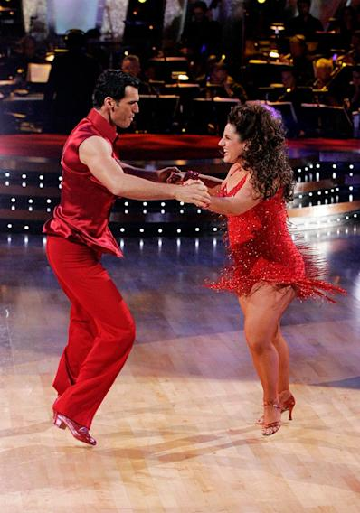 Tony Dovolani and Marissa Jaret Winokur perform a dance on the sixth season of Dancing with the Stars.