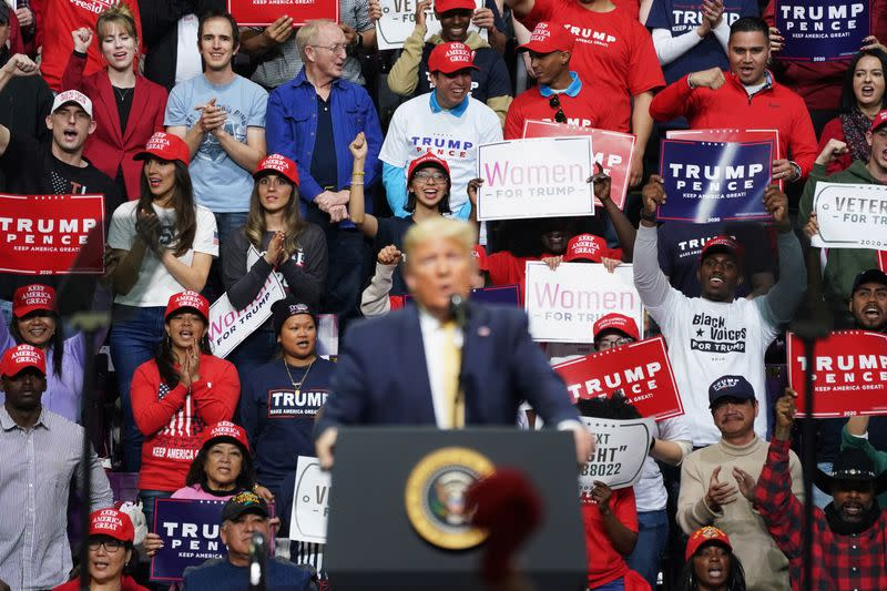 U.S. President Donald Trump holds a campaign rally in Colorado Springs