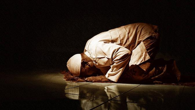 Ilustrasi salat tahajud (Foto: moslemforall.com)