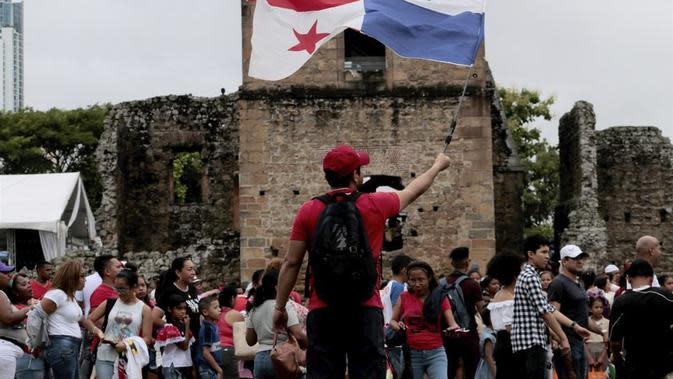 Ilustrasi bendera Panama. (Source: AP/ Eric Batista)
