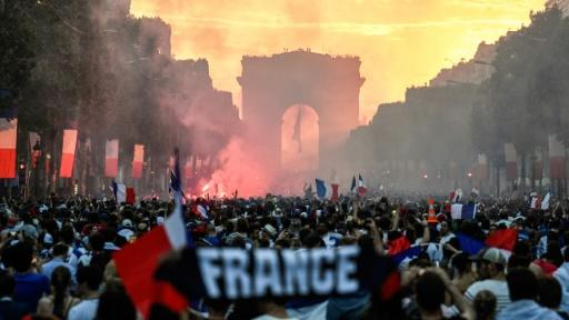 The Champs Elysees is a place of mass gathering when the French want to celebrate