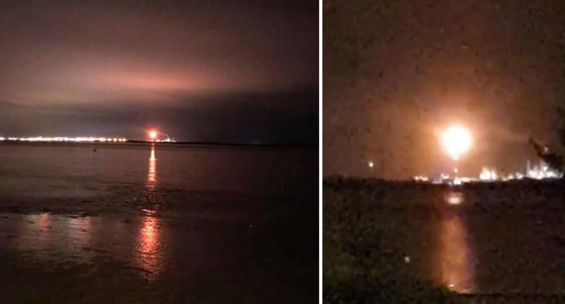Hull residents notice orange flashing light in the sky