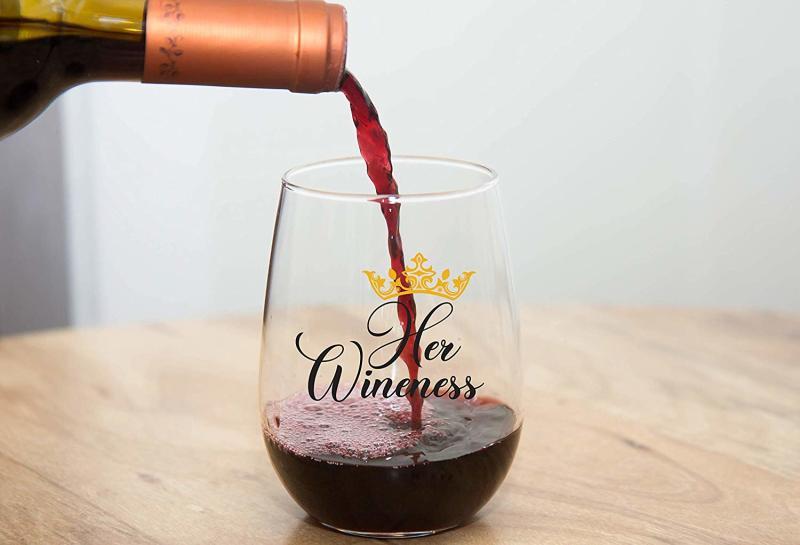 Her Wineness Funny Wine Glass. (Photo: Amazon)