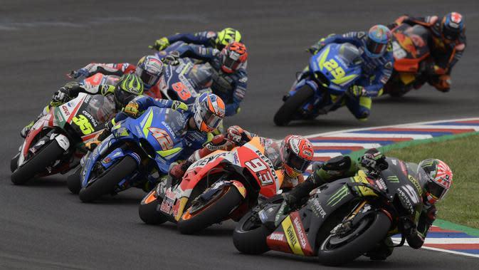 Jalannya balapan MotoGP Argentina. (AFP/Juan Mabromata)