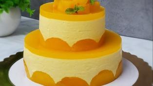 【蛋糕食譜】雙層芒果慕絲蛋糕