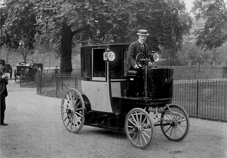 Dec. 6, 1897: London first licenses motorized taxis