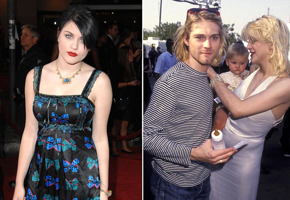 Frances Bean Cobain, Kurt Cobain and Courtney Love