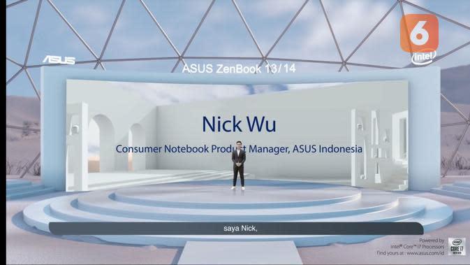 Asus resmi memperkenalkan ZenBook 13 & 14 yang memiliki bodi tipis, ringan, dan baterai yang awet seharian (Foto: Livestreaming Asus)