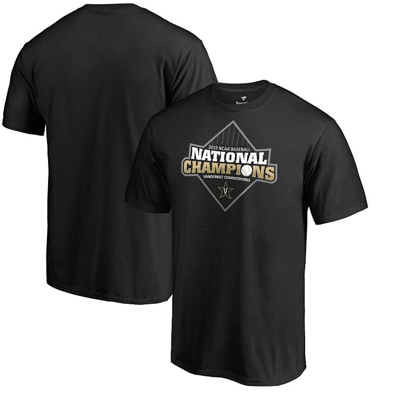 Vanderbilt Commodores 2019 NCAA Men's Baseball College World Series National Champions T-Shirt