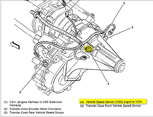 Rear Wheel Speed Sensor 468533 on 1999 gmc wiring diagram